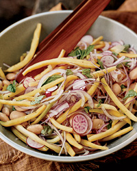 Yellow Bean and Watermelon Radish Salad